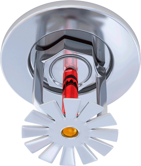 Each Closed Head Sprinkler Is Held Closed By Either A Heat Sensitive Glass  Bulb (see Below) Or A Two Part Metal Link Held Together With Fusible Alloy  Such ...
